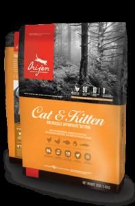 ORIJEN Cat & Kitten Biologically Appropriate Cat Food Bag