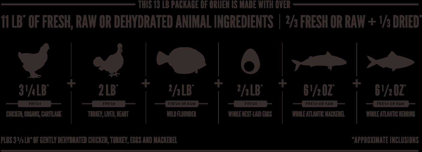 ORIJEN Large Puppy Meatmath Formula and Dog Food Ingredients
